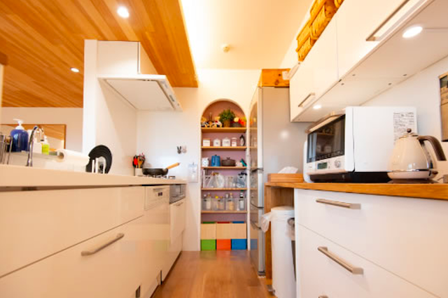 キッチンのパントリー